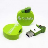 PVC Apple Shaped USB Flash Drive
