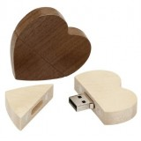 Wooden Heart Shaped USB Flash Drive