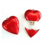 Plastic Red Heart USB Flash Drive