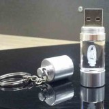 Round Crystal USB Flash Drive