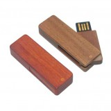 Wooden Swivel USB Flash Disk